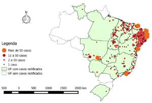 Microcephaly map Brazil
